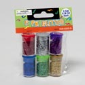 Glitter 6pk Asst Colors In Jars 5gm Ea Craft/polybag/hdr