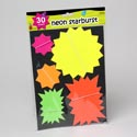 Starbursts Neon 30ct 5 Sizes Cardboard Gov Stat Pbh