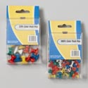 Push Pins 2asst In Storage Box 100pc Regular/22pc Jumbo Plastic Gov Stat Box