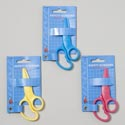 Scissors Kids Safety All Plastic 3clrs/12pc Merchstrip Gov Stationery Try-me Card
