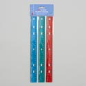 Rulers Plastic 3pk Transparent Color In Polybag Gov Stationary Header