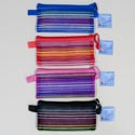 Pencil/pen Case Mesh 4x8 Striped Multi-color 4asst Clrs Gov Stat Ht