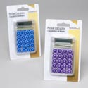 Calculator Pocket 8-digit Blue Or Purple Color Stocklot Blister Card/upc Label