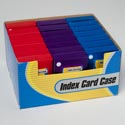 Index Card Case 3x5 W/2 Button Close W/5 Dividers 3ast 24pc Pdq Gov Stat Speaker Peel Label