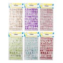 Alphabet Stickers 71/84ct Fabric/metallic 2styles/clrs Polybag Header