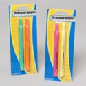 Highlighter 2pk Retractable Pink/yellow Or Green/orange Stationary Blister Card