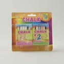 Chalk 2pk W/12pc Per Box Mixed Colors Or Solid White Stat Blister Card