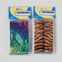 Memo Books 60 Ruled Sheets 4pk 3x5 Ast Animal Skins Stat Pbh
