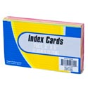 Index Cards 75ct Neon 3x5in 70gsm Paper Stat/shrink W/insert