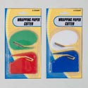 Wrapping Paper Cutter 2pk 2styles/colors/pk 12pc Mdsgstrip Stationery Blister Card