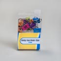 Binder Clips 12ct Smiley Face Diecut .75in Multiclr Pvc/insert