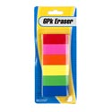 Eraser 6pk Neon Color Stationary Blistercard 11gm Prpc