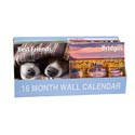 Calendar Wall 16month 2019 12 Themes 11x12in 72pc Pdq W/bonus Stickers