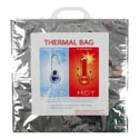 Thermal Hot/cold Bag Reusable Holds Up To 30lbs/66g W/handle Sticker Label