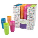 Tumblers Plastic 4pk 12oz 4asst Summer Brites In 48pc Pdq Summer Label-new Pdq Size