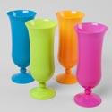 Hurricane Plastic Cup 16oz 8in 4 Summer Colors Upc Label