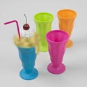 Ice Cream Soda Cup 12.5oz 6.5in 4 Summer Colors Upc Label