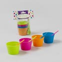 Ice Cream Bowl W/spoons Mini 4pk On 8pc Merchandising Strip Gov Summer Pbh