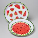 Serving Tray Round Watermelon Melamine 2ast Prints 11.75in Upc Label