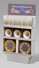 Melamine Dinnerware Moroccan 2asst Designs 132pc Flr Display 48pc Bowl & Plate/36pc Tumbler