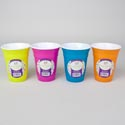 Cup 16oz Double Wall Plastic 4 Summer Colors/color Label Upc