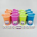 Tumbler W/lid 30.5oz Double Wall Plastic/summer Colors/12pc Pdq Summer Label