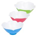 Serving Bowl Plastic Tulip Shape 2tone Glossy Finish 10in Dia 200g/pink/blue/green Clrs/label