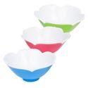 Serving Bowl Salad Tulip Shape 2tone Glossy 5.875in Dia 3ast 118g/pink/blue/green Label