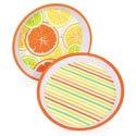Serving Tray Melamine Citrus 11.75in 2ast Pattern Upc Label