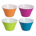 Serving Bowl Double Wall V-shape 4 Summer Colors 9.84x5.31in Summer Upc/lab