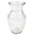 Vase Round Swirled Clear Glass 3.5 In Opening, 8in Tall *4.99*