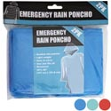 Rain Poncho Emergency 2pk 3ast Colors 12pc Accordian Mdsg Strip Pbh