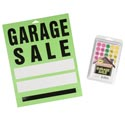 Garage Sale 192pc Shipper 120pk 400ct Ppc Labels+ 72 11x13 Signs In Floor Display