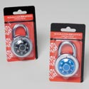 Lock Steel Combination 50mm Heavy Duty Black Or Blue Dial Hardware Blister Card