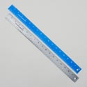 Ruler 18in Stainless Steel W/cork Back Blue Or Silver Color Upc Label