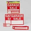 Garage Sale Kit 10pc 2signs/ 2arrows/6price Tags Polybag/hdr
