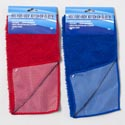 Microfiber Kitchen Cloth 12x12 W/mesh Scrubbing Side 2ast Color Cleaning Header Card