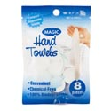 Magic Hand Towel 8pk Disposable Quik Wipe Biodegradble 8.5x9.5 Printed Pb/12pc Merchstrip