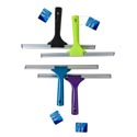 Squeegee Window 12in 4ast Clr Aluminum Base Cleaning Ht Green/blue/purple/black