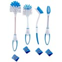 Brush Household Cleaning 4styles 2tone Clr/toilet/grout/2-dish Cleaning Ht/ 2tone Blue&white