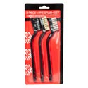 Detail Brush Wire 3pc Set Nylon/brass/stainless Bristles Hardware Blister Card