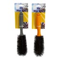 Auto Wheel Brush 10in 2 Ast Colors Grey/orange Auto/tcd