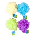 Bath Sponge W/stretchy Silky Loop Handle 55gm Ast Colors In Acetate Pdq Hba Ht