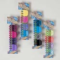 Hair Jaw Mini Clip 4pk/4ast Neon Colors/patterns Hba Tie On Card