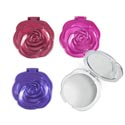 Mirror Compact Rose Cover 4ast Color 3.125in/24pc Pdq Hba Easy Peel Label