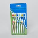 Toothbrush Kids 6pk Soccerball Grip On 12pc Mdsg Strip Hba Blc Medium Bristle 4colors Per Card