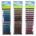 Hair Bands 36ct 3ast Colors Brown/blue/pink Ast Sizes Hba Opp Bag/header Tcd