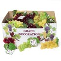 Grape Decor 36pc Cluster 3ast Colors W/silk Leaves 48pc Pdq ** No Amazon Sales **