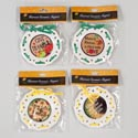 Harvest Magnet Ceramic 3in 4ast W/ribbon Trim 12pc Merch Strip Gov Logo Polybag/header