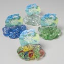 Craft Marble Glass Diamond Shape 12oz Solid Clear/blue/green/mixd Mesh Bag W/ht